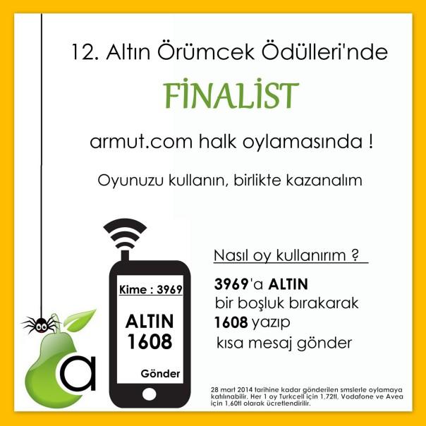 Armut.com Altın Örümcek Web Ödülleri'nde Finalist ve Oylarınızı Bekliyor